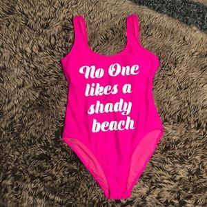 """Shady Beach"" No Boundaries size M swimsuit"